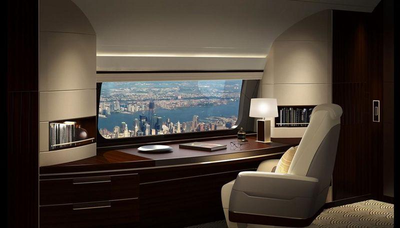 Panoramic Airplane Windows