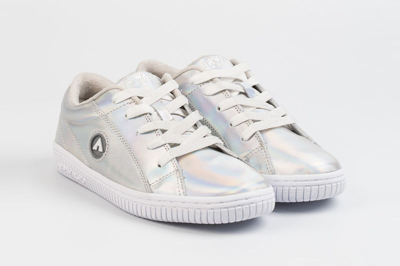 Iridescent Leather Sneakers
