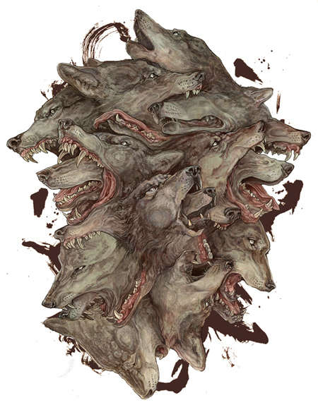 Eerily Dark Animal Illustrations