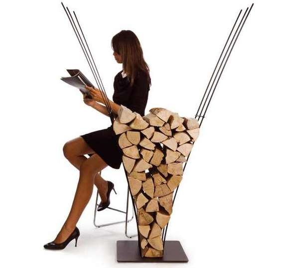 creative firewood holders stylish wood piles by ak47 design. Black Bedroom Furniture Sets. Home Design Ideas