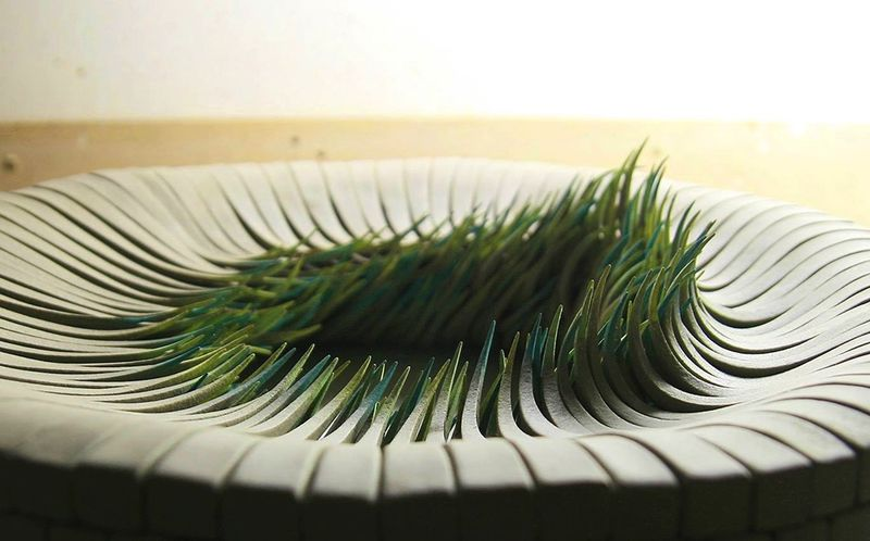 Grass-Inspired Ceramic Sculptures