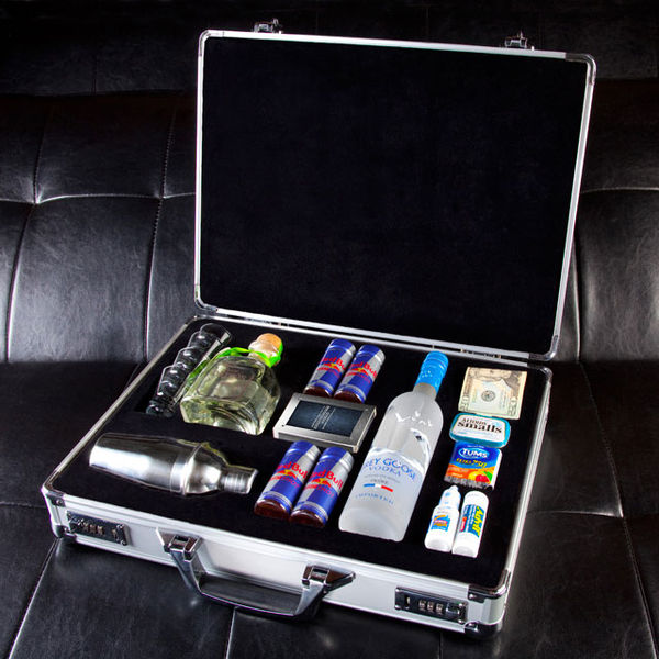 Business-Inspired Alcohol Briefcases