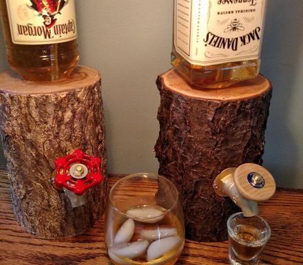 Log Liquor Dispensers