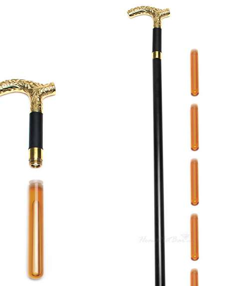 Alcohol-Smuggling Walking Canes