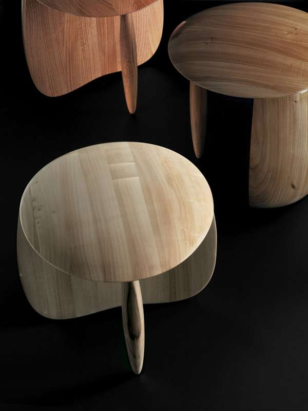 Polished Wood Stools