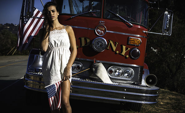 Patriotic Hitchhiker Photography