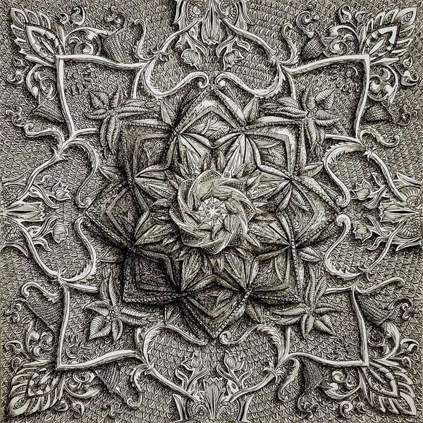 Line Art Design Trend : Intricate line art alex konahin