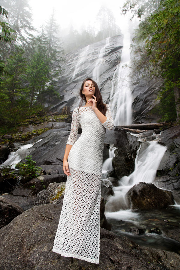 Flowing Waterfall Fashion Editorials