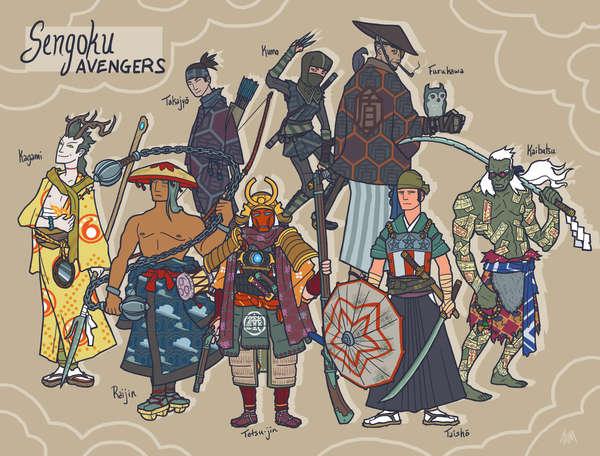 Ancient Asian Avenger Art