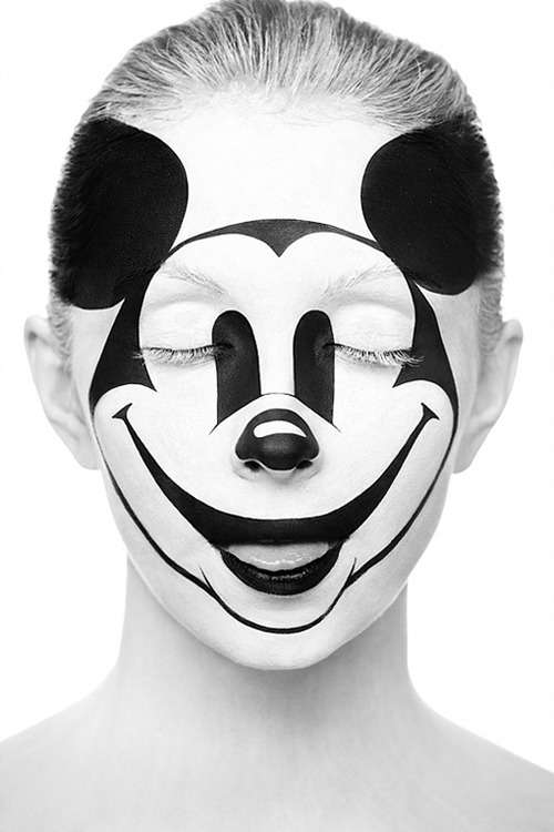 Illusionary Painted Face Photography