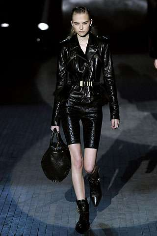 Chic Bike Shorts And Leather Alexander Wang Rocks The