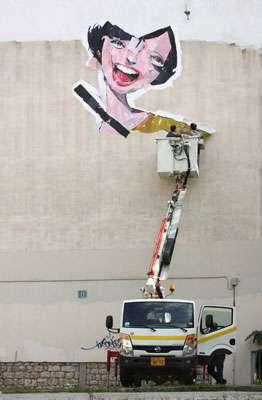 Cartoon Wall Installations