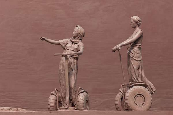 Segway-Riding Sculptures