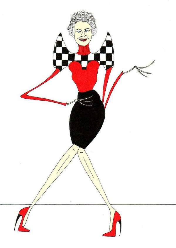 Skinny Queen Caricatures