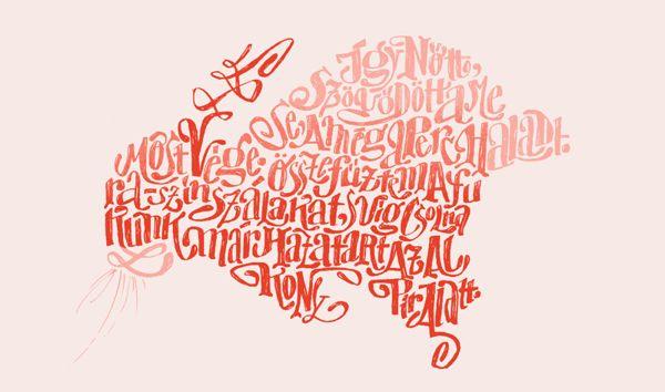 Literary Typographic Illustrations
