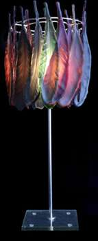 Hypnotic Glass Feather Light