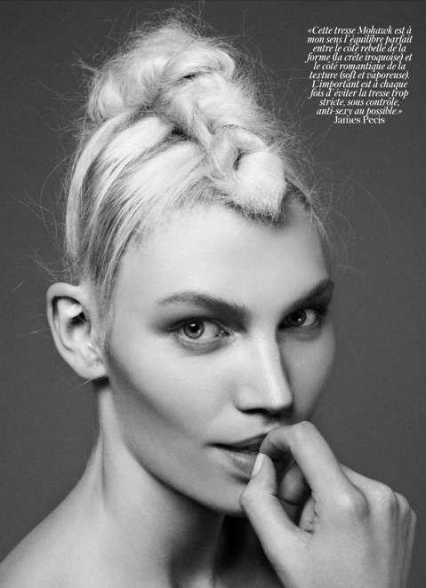 Messy Braid Editorials Aline Weber Vogue Paris