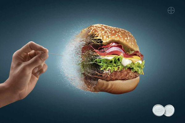Burger Balloon-Popping Ads