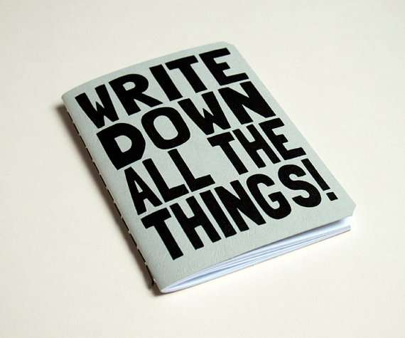 All The Things Notebook by Purple Cactus Design