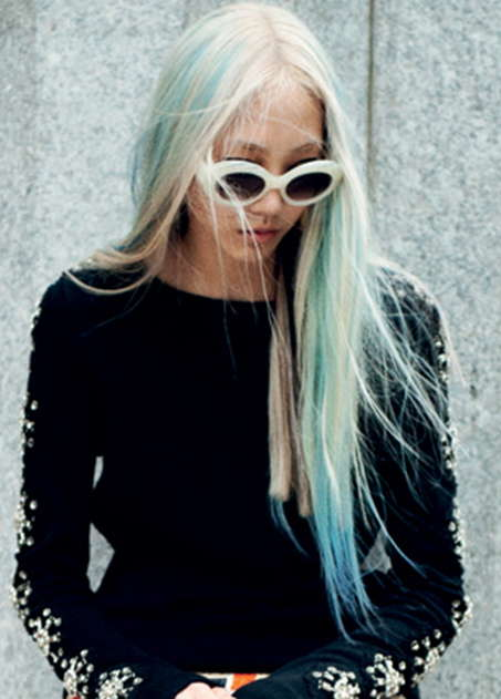 Draping Blue Haired Editorials