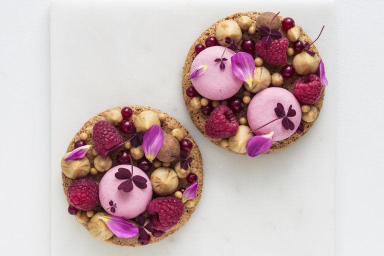Textured Almond Berry Cakes