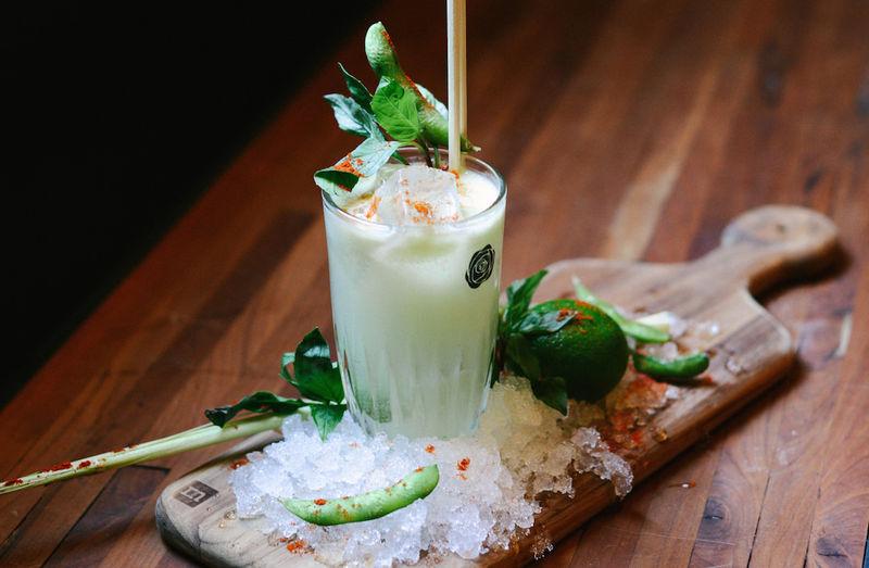 Green Herb Cocktails