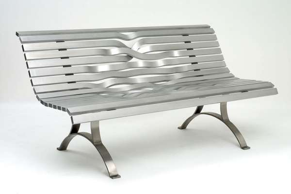 Twisted Metal Seats Aluminum Bench