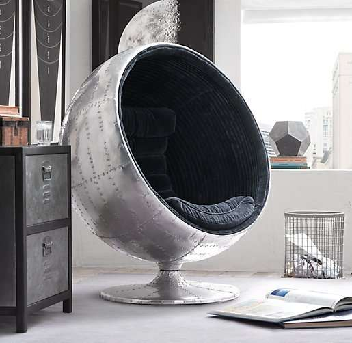 Metallic Orbital Chairs