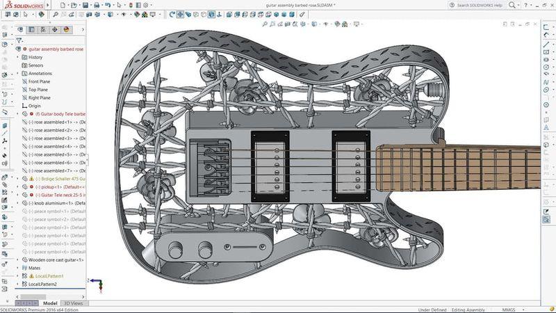 3D-Printed Aluminum Guitars
