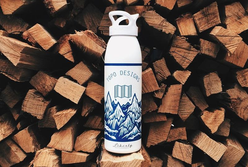 Topographic Water Bottles