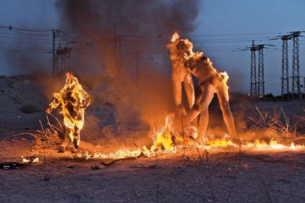 Burning Mannequin Photography