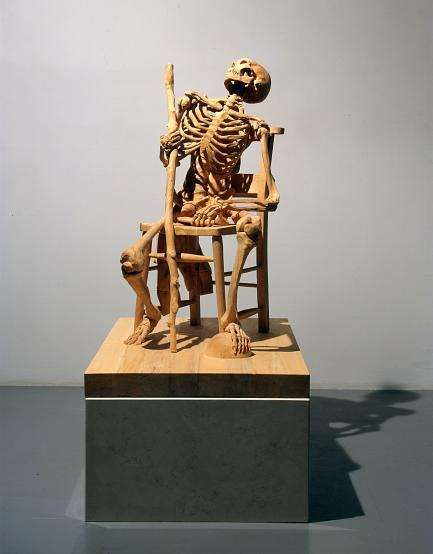 Carved Wood Skeletons