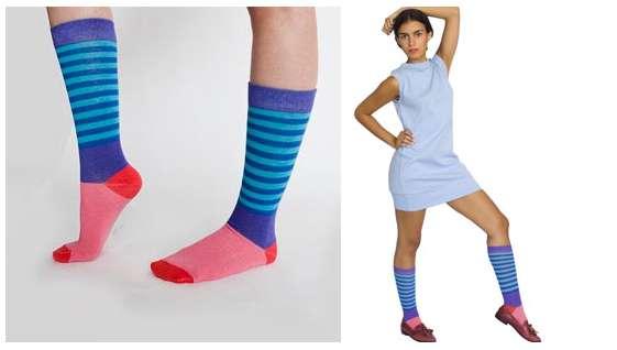 American Apparel Socks Ad Rainbow brite socks
