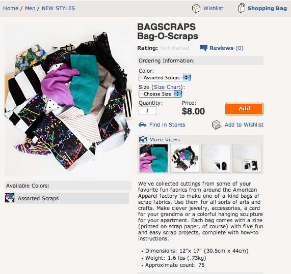 Retailers Selling Scraps