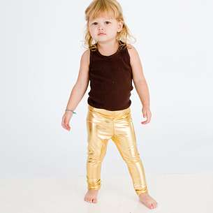 Gold Kiddie Leggings