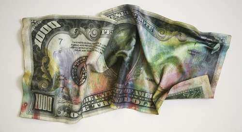 Crumpled US Currency Captures