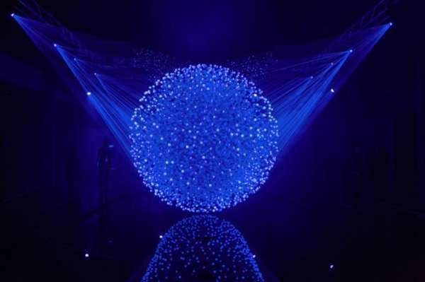 Illuminated Sphere Cloud Sculptures