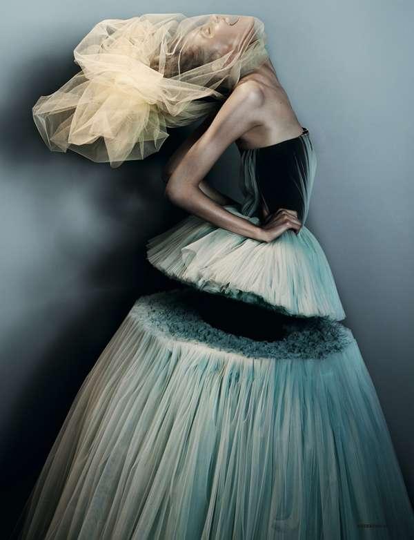 Diagonally Divided Dresses