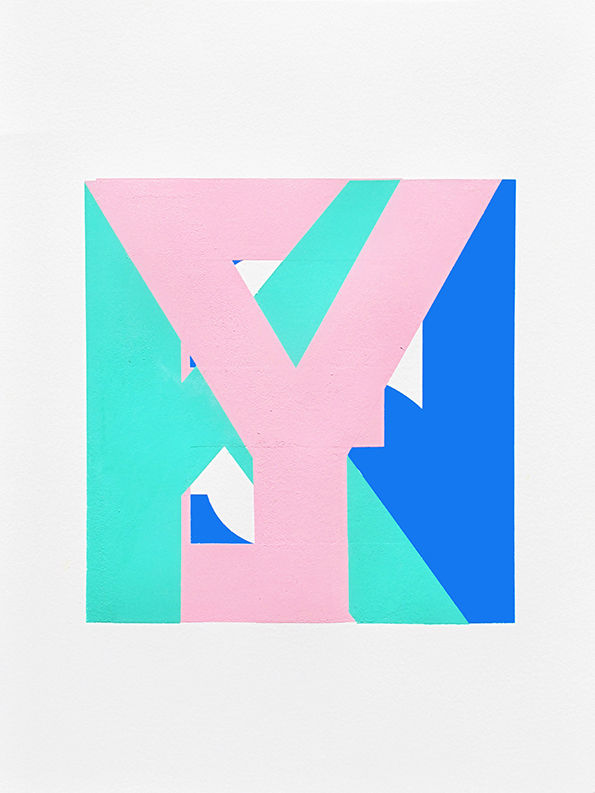 Abstract Alphabet Paintings