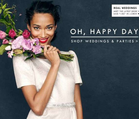 Anais Mali for J Crew Weddings