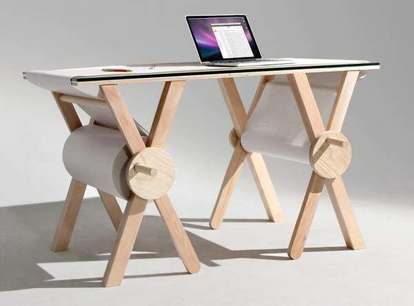 Revolving Writing Pad Tables