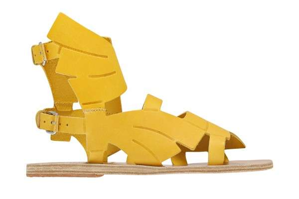 Banana-Inspired Gladiator Sandals