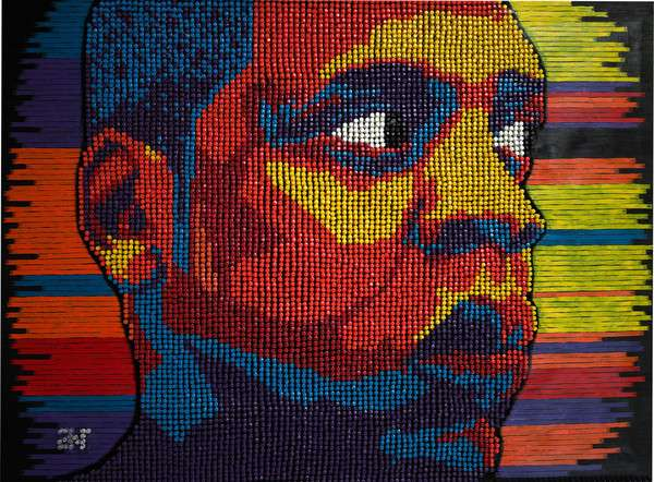 Andre Woolery Push Pin Art
