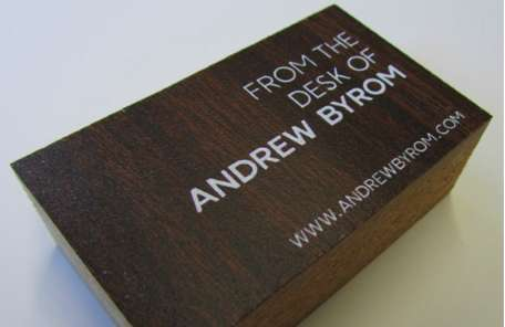 andrew byrom s business cards