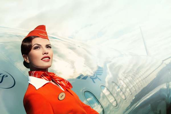 Retro Flight Attendant Photoshoots