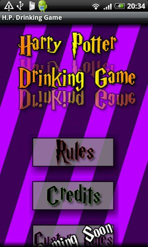 Android Harry Potter Drinking Game