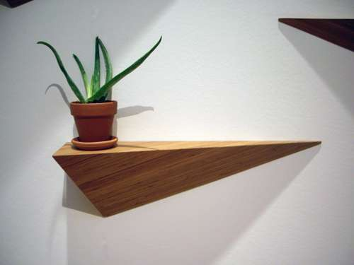 Hanging Hypotenuse Shelves