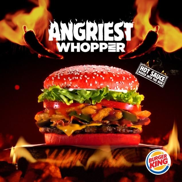 Spicy Red Hamburger Buns