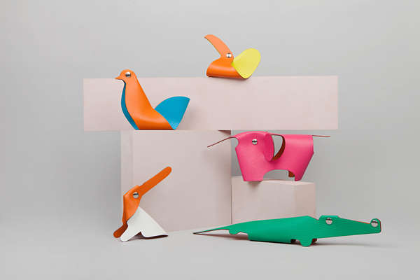 Leather Origami Animals