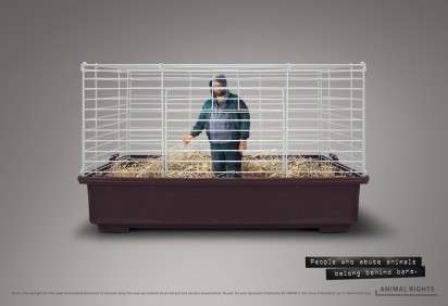 Caged Animal Abuser Ads